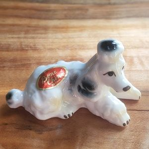 VINTAGE POODLE BONE CHINA COLLECTABLE